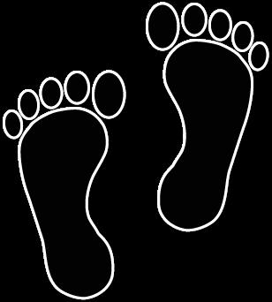 Footprint clipart walking. Foot feet clip art