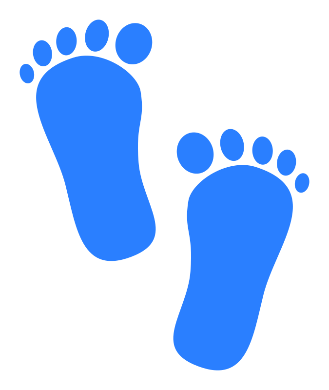 Footprints blue medium image. Foot clipart baby boy