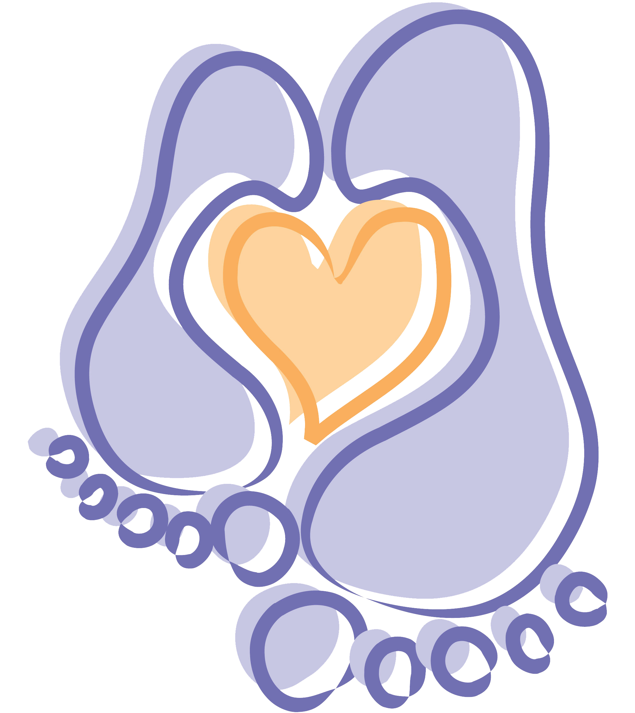 Heartsong maternity services information. Feet clipart baby heart