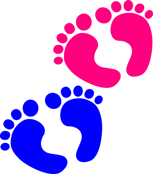 Feet clip art at. Foot clipart pink baby