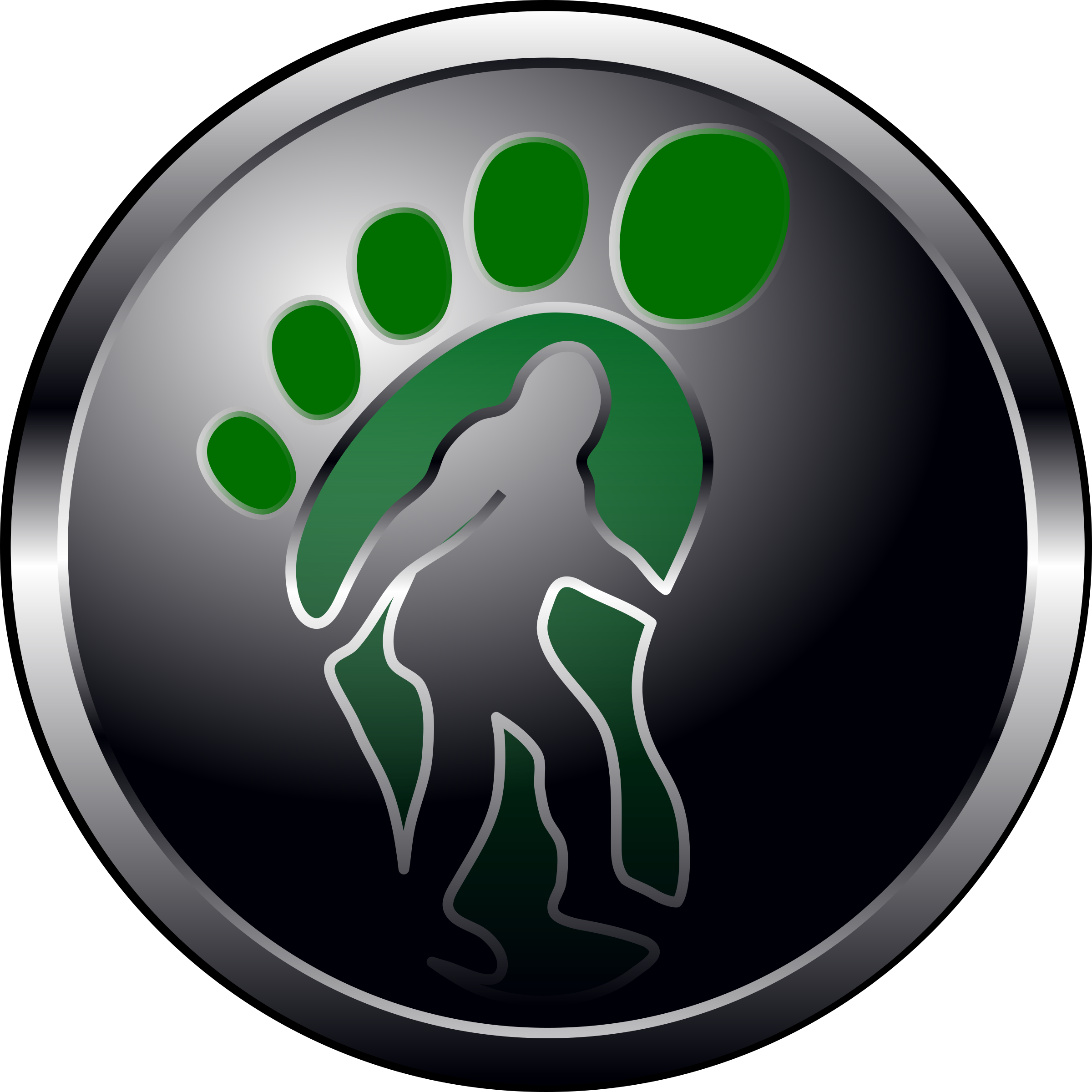 Foot clipart bigfoot. Button icons png free
