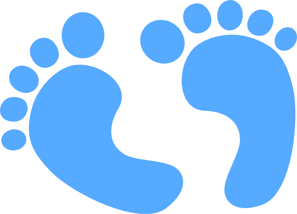 Footprints clipart blue. Baby foot prints images