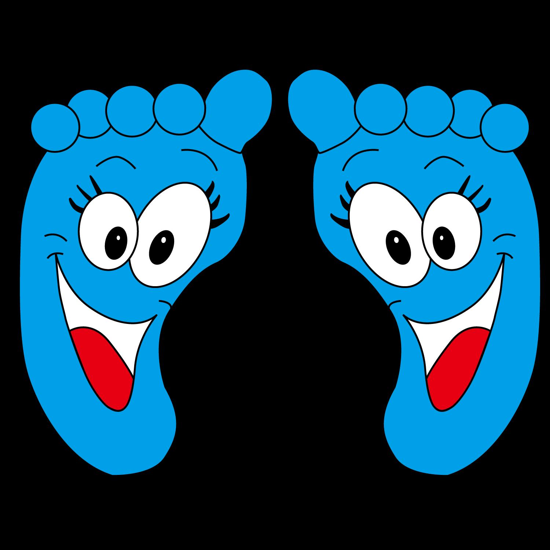 Cartoon animation cute transprent. Feet clipart blue foot