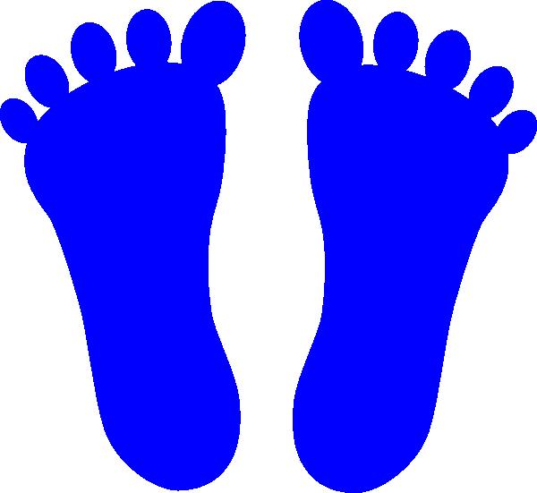 Footprints clipart blue. Foot prints clip art