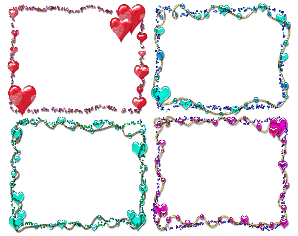 Free frames and borders. Girly clipart border