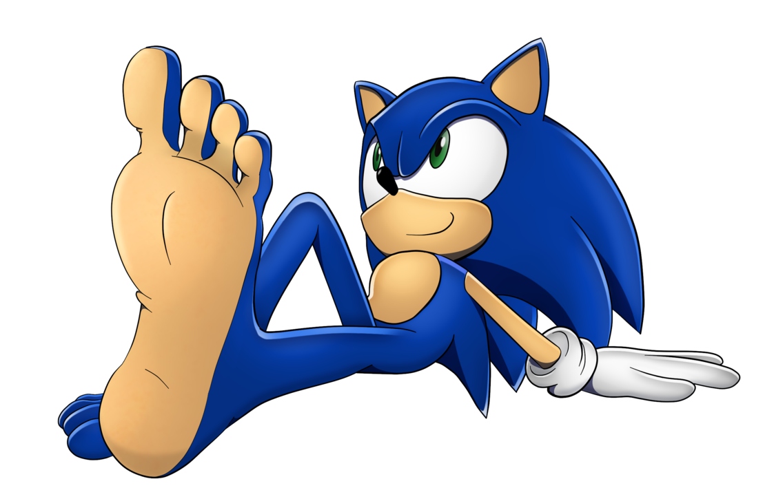 Feet clipart bottom foot. Relaxing times with sonic