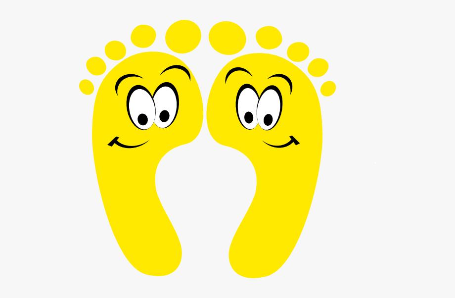 Funny yellow happy . Feet clipart bottom foot