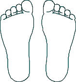 Outline free download best. Feet clipart bottom foot