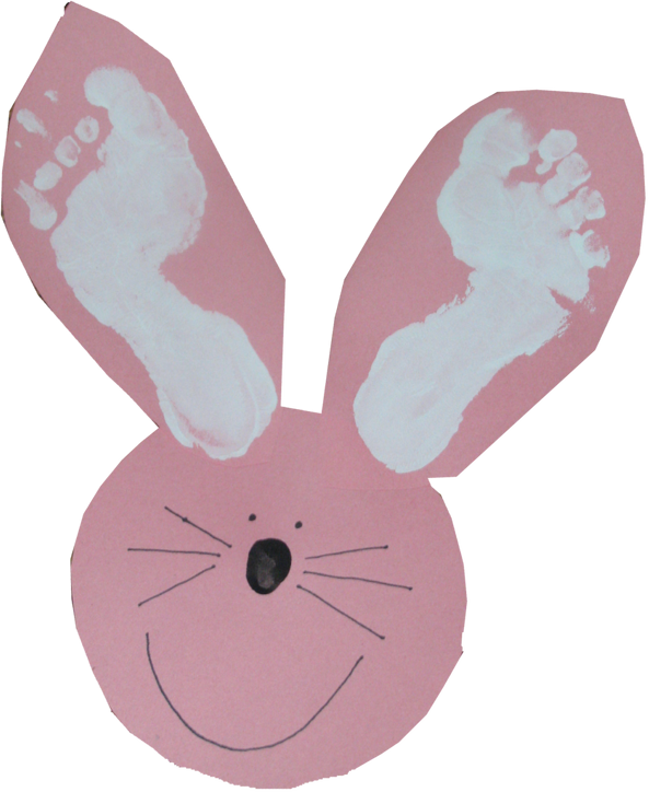 Easter craft also could. Feet clipart bunny ear