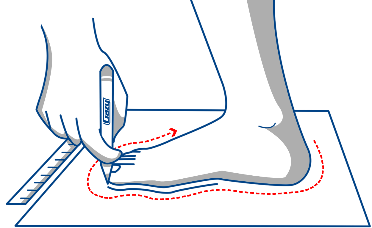 Crazy skate s sizing. Feet clipart clean foot