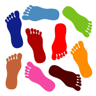 Feet clipart coloured. Foot walking free images