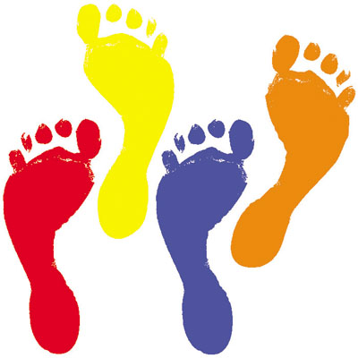 Free footprints cliparts download. Footsteps clipart colored