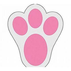 Footprint stencils free . Feet clipart easter bunny