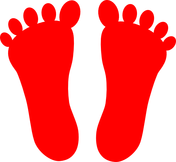Footsteps clipart red. Colored frames illustrations hd