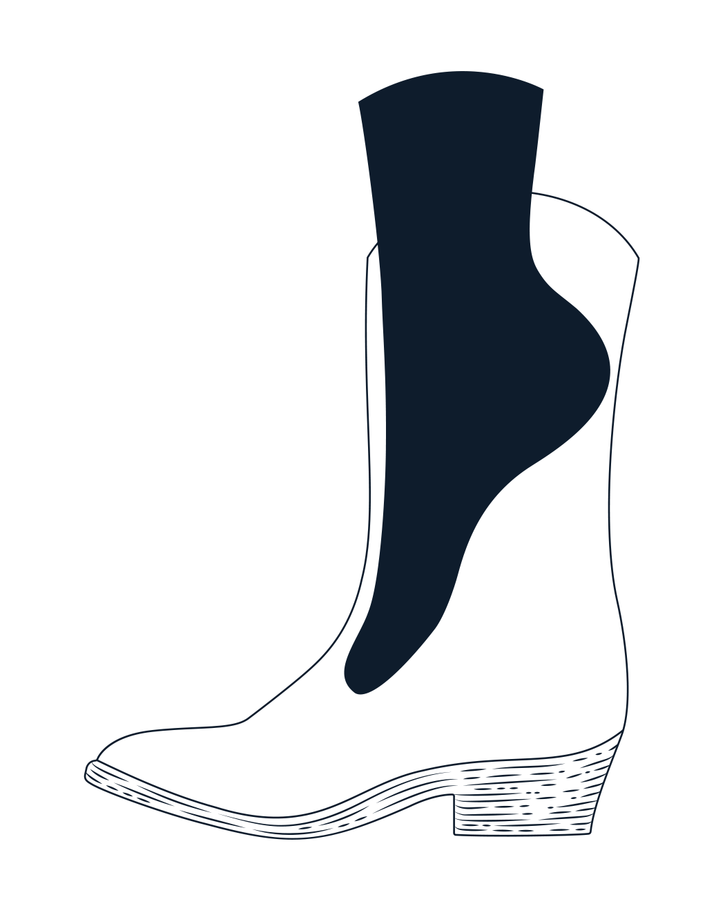 Bart lucchese since foot. Hiking clipart boot tracks