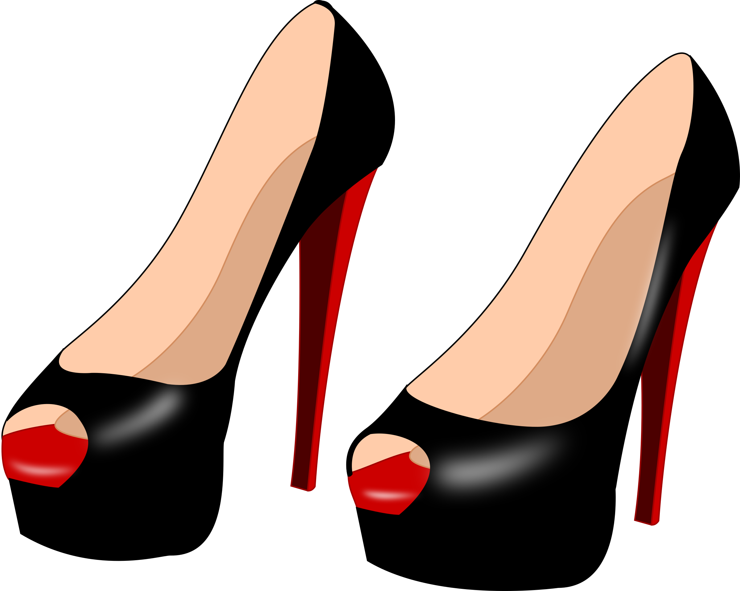 High heels by solvera. Feet clipart foot heel