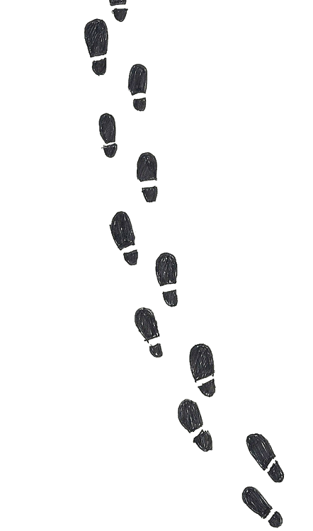 Footsteps clipart foot step. Image about cute in