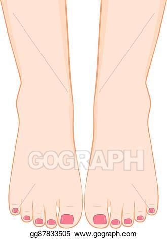Feet clipart foot up. Clip art vector pedicure