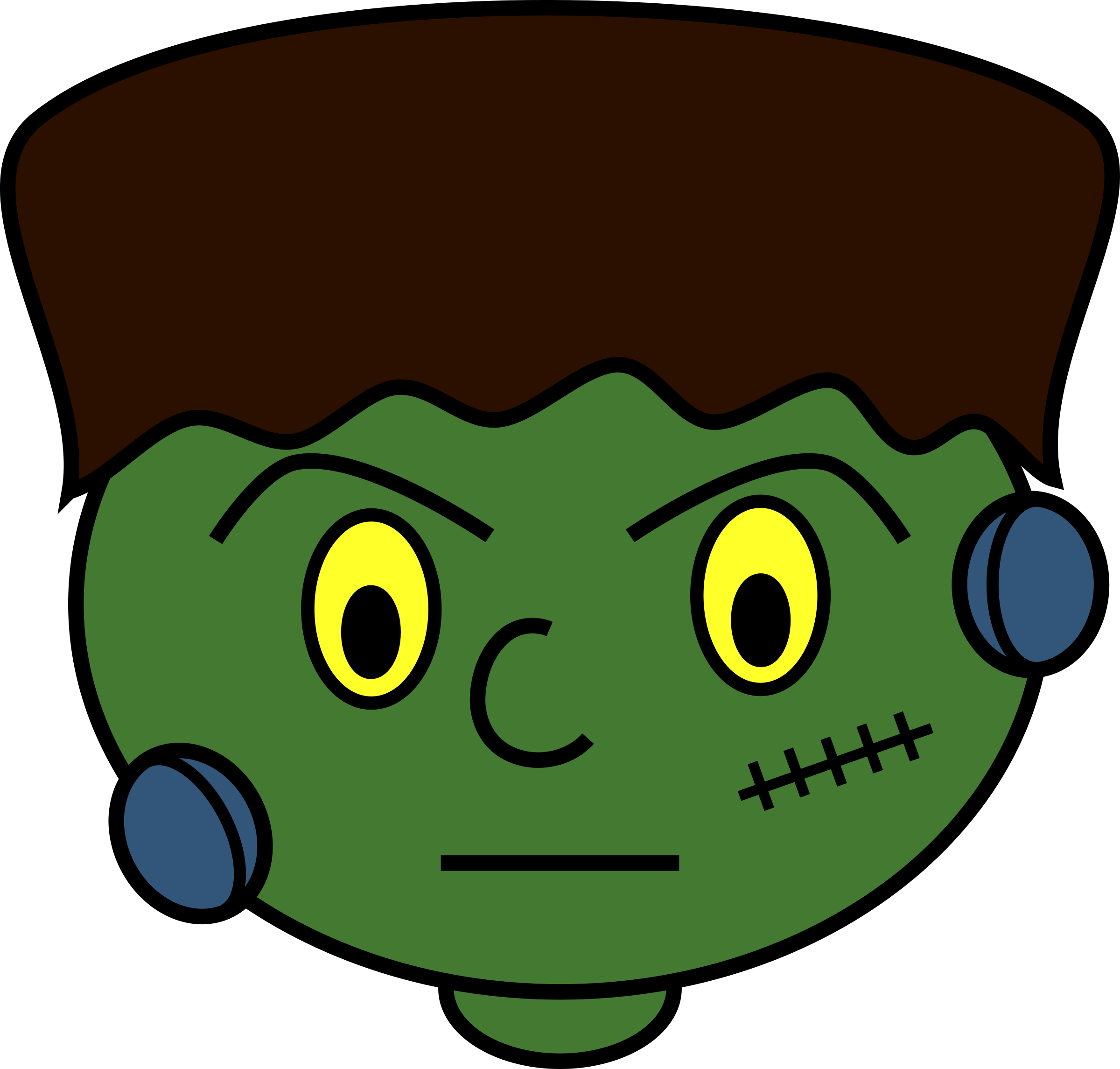 Stitch clipart frankenstein. Group young monster