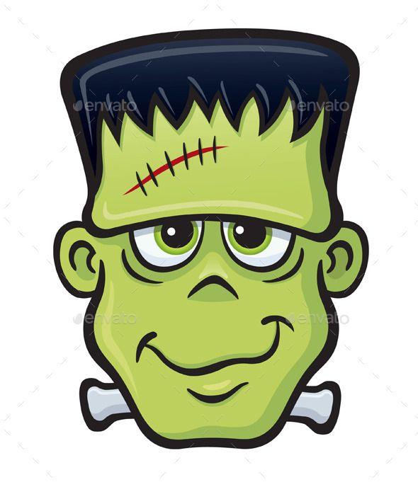 Monster face by rodsavely. Frankenstein clipart item