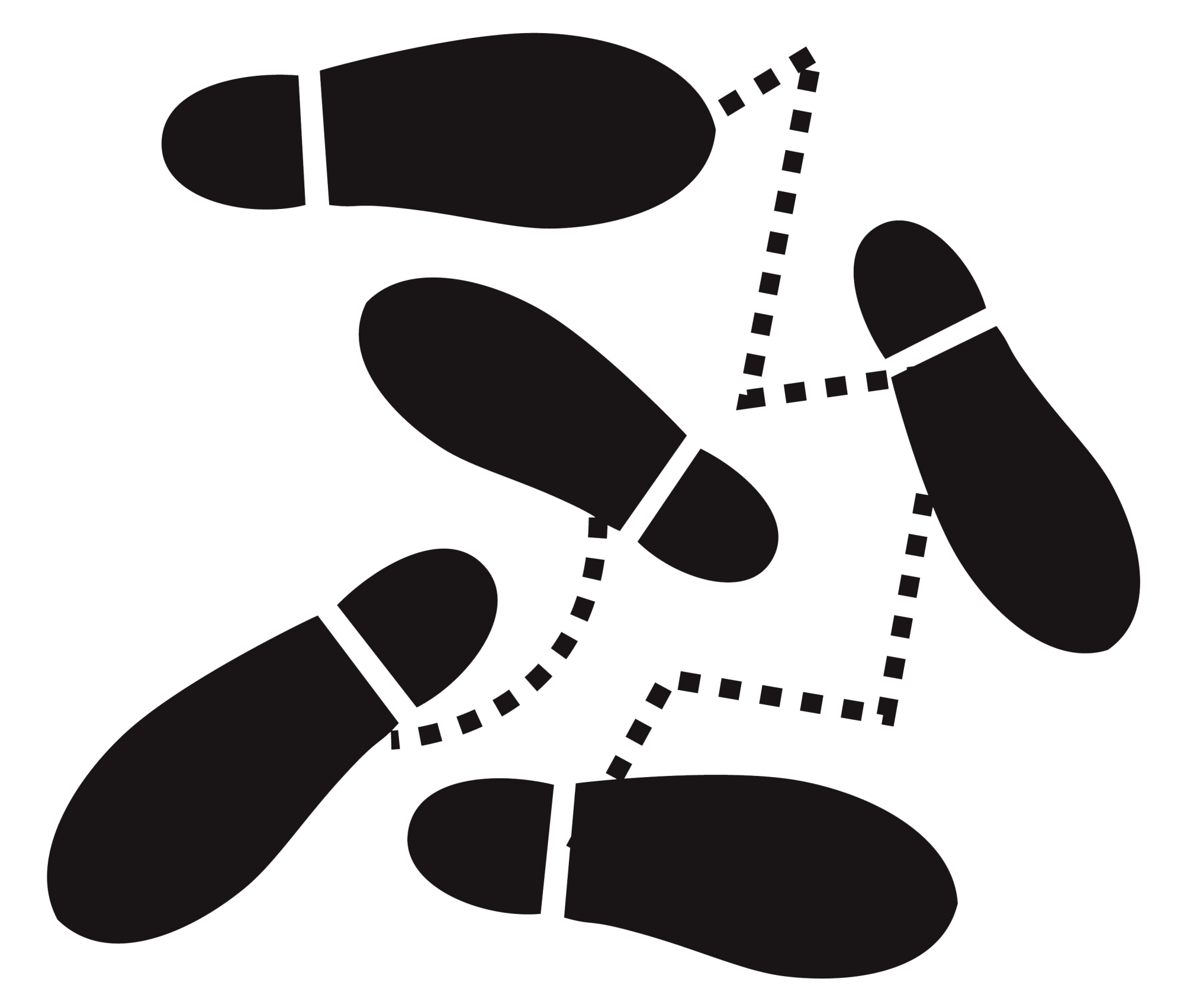 footsteps clipart dancing