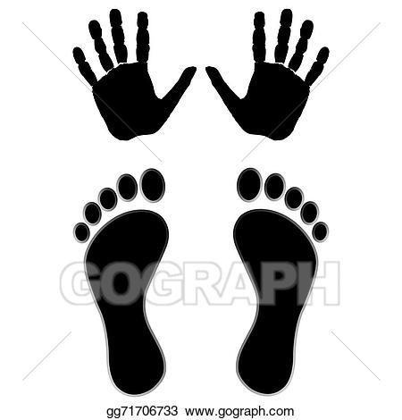 Clip art vector and. Feet clipart hand foot
