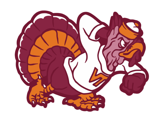Pin by old try. Foot clipart hokie