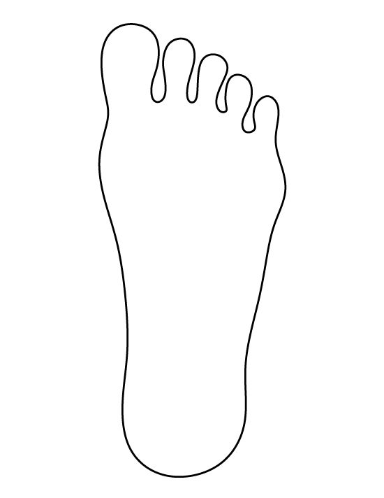 Feet clipart line drawing. Footprint at paintingvalley com