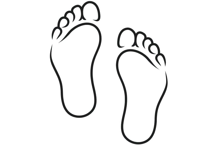 Foot free download best. Feet clipart line drawing