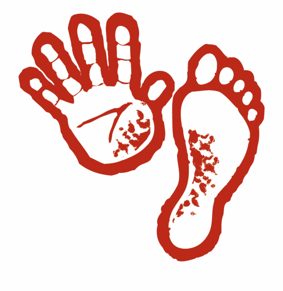 Fingers and . Handprint clipart hand foot