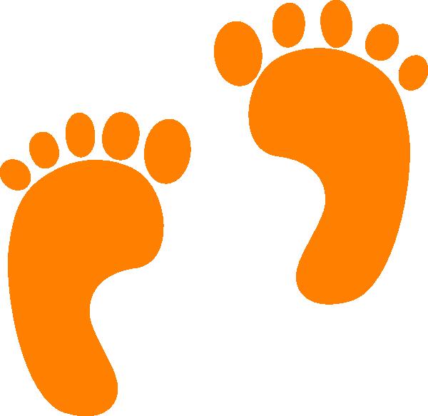 feet clipart orange