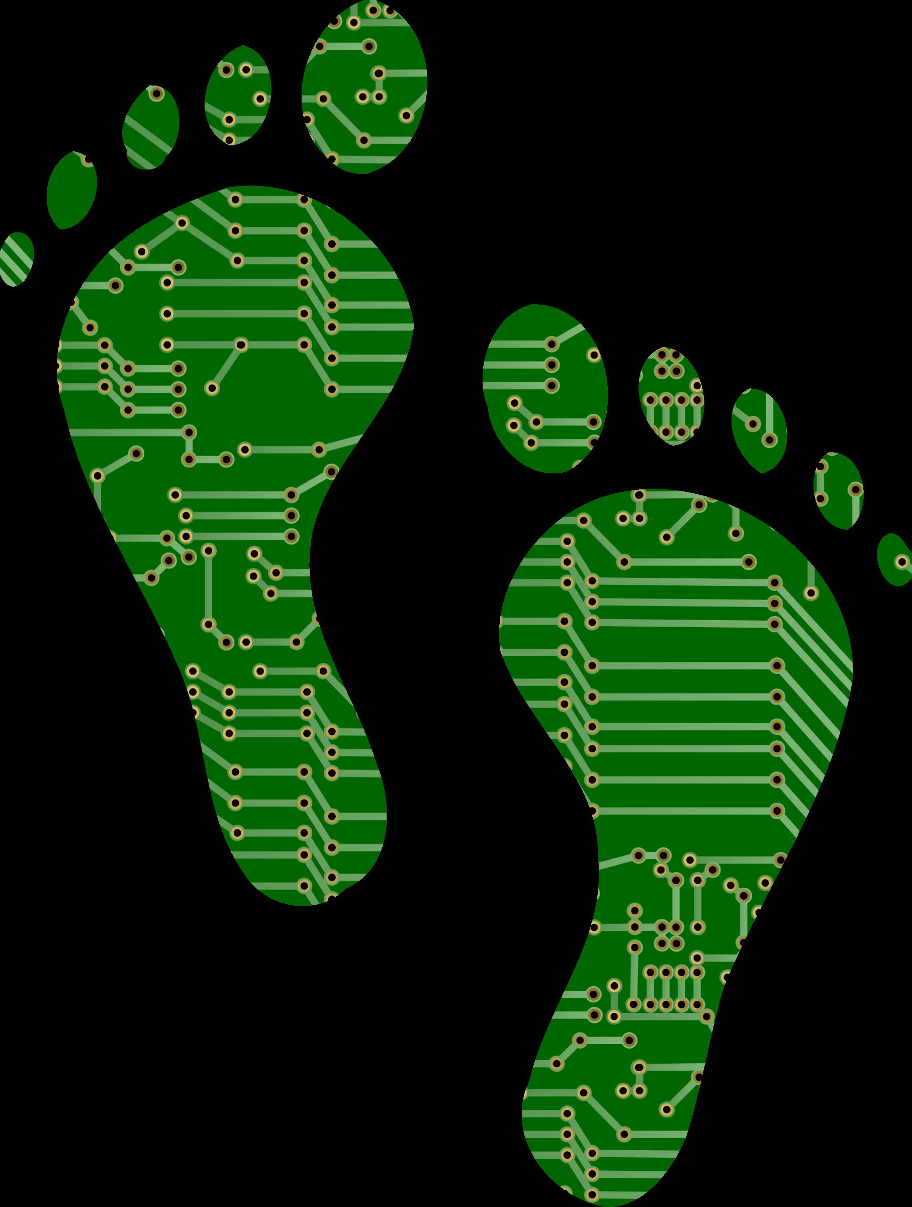 Feet clipart pair foot. Circuit board big image
