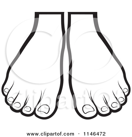 Black and white free. Feet clipart pair foot