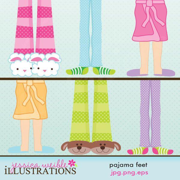 Pajama feet cute digital. Pajamas clipart pajamas slipper