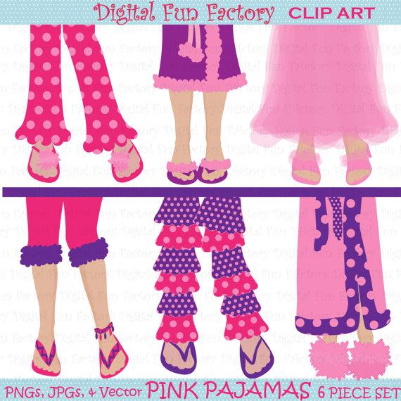 Pajamas clipart pajamas slipper. Clip art girl pajama