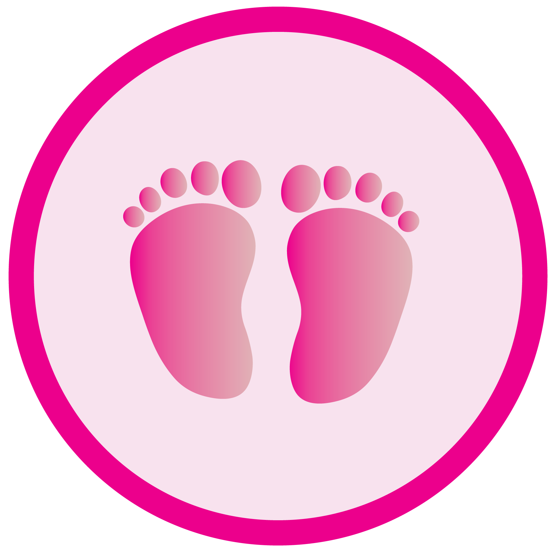 Footsteps clipart small. Baby feet clip art