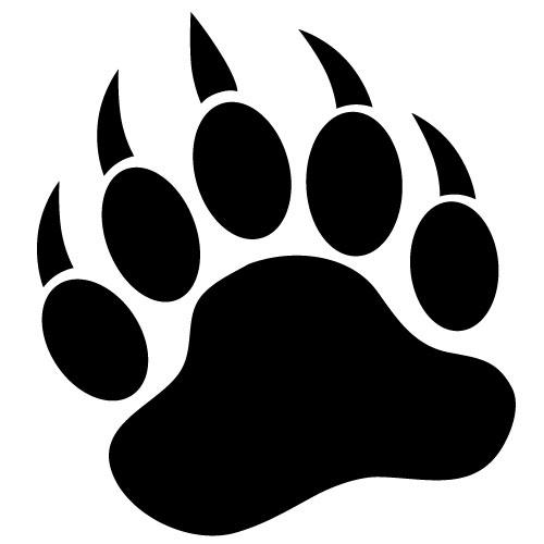 Paw clipart ucla. Free bear foot print