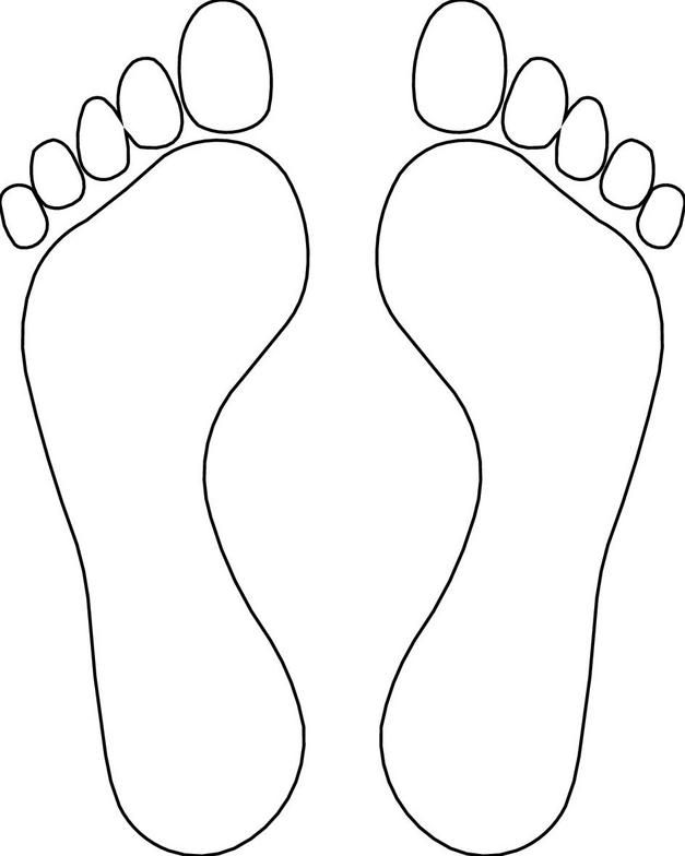Feet template library adult. Foot clipart foot outline