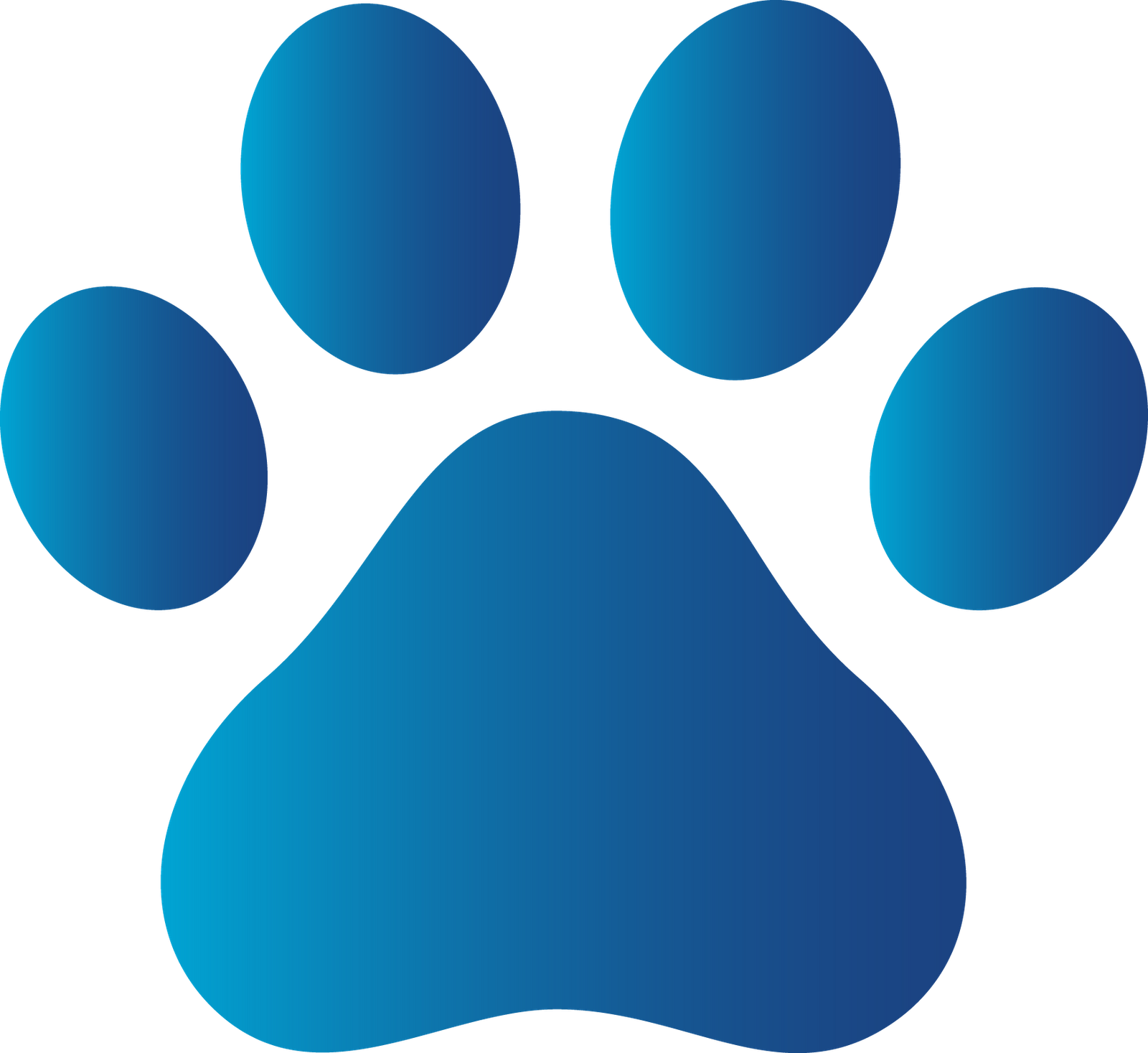 Pawprint clipart footprint. Dog paw group blue