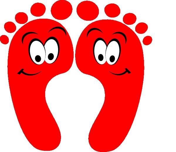 Foot clipart red. Happy feet clip art