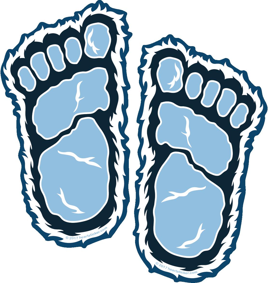Yeti foot print all. Georgia clipart sticker