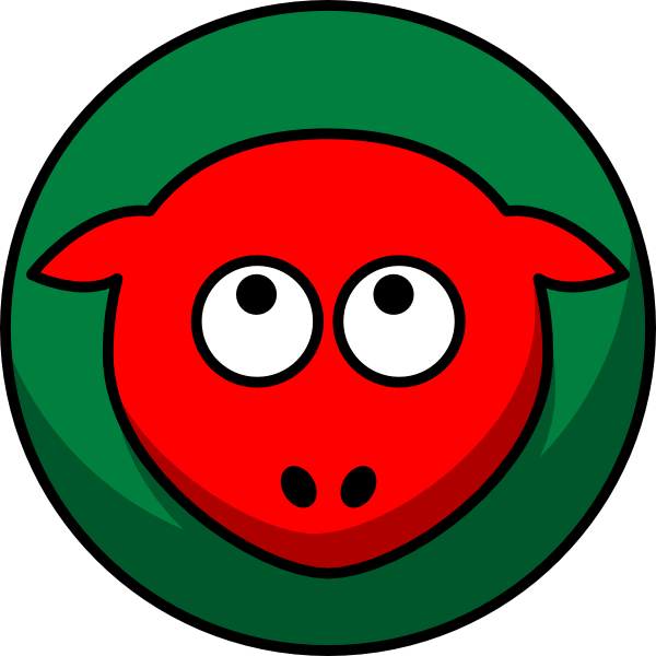 Red two toned looking. Foot clipart sheep