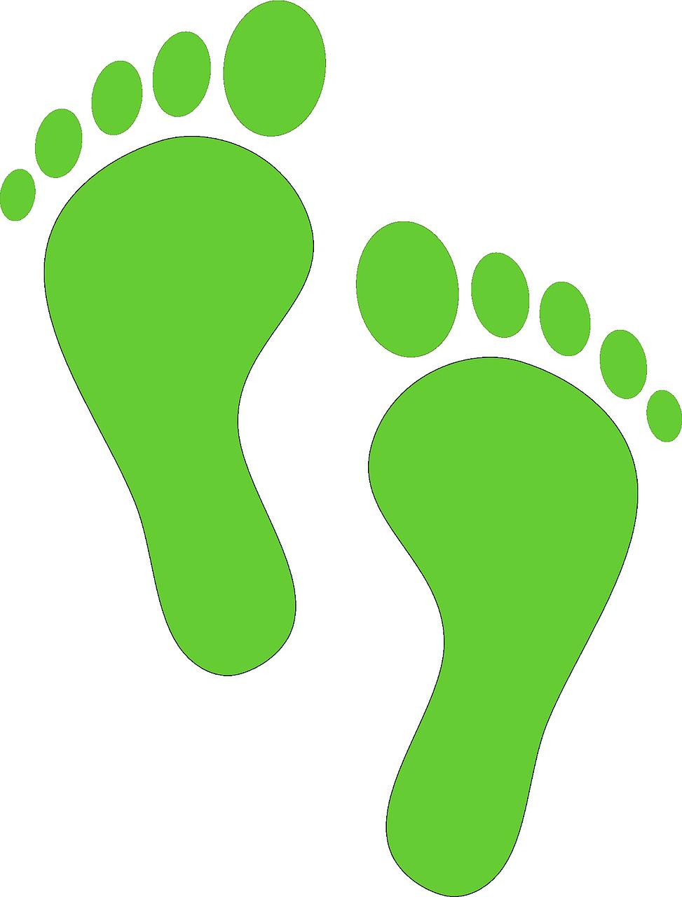 Sustentabilidade modelos pinterest footprints. Foot clipart silhouette