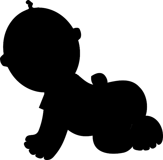 Foot clipart baby's. Baby feet silhouette at