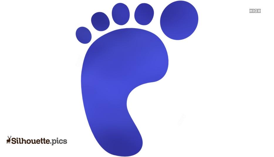 Silhouette pics . Feet clipart single