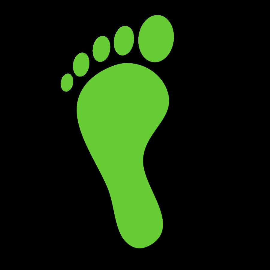 Foot clipart single. Shoe print cliparts co