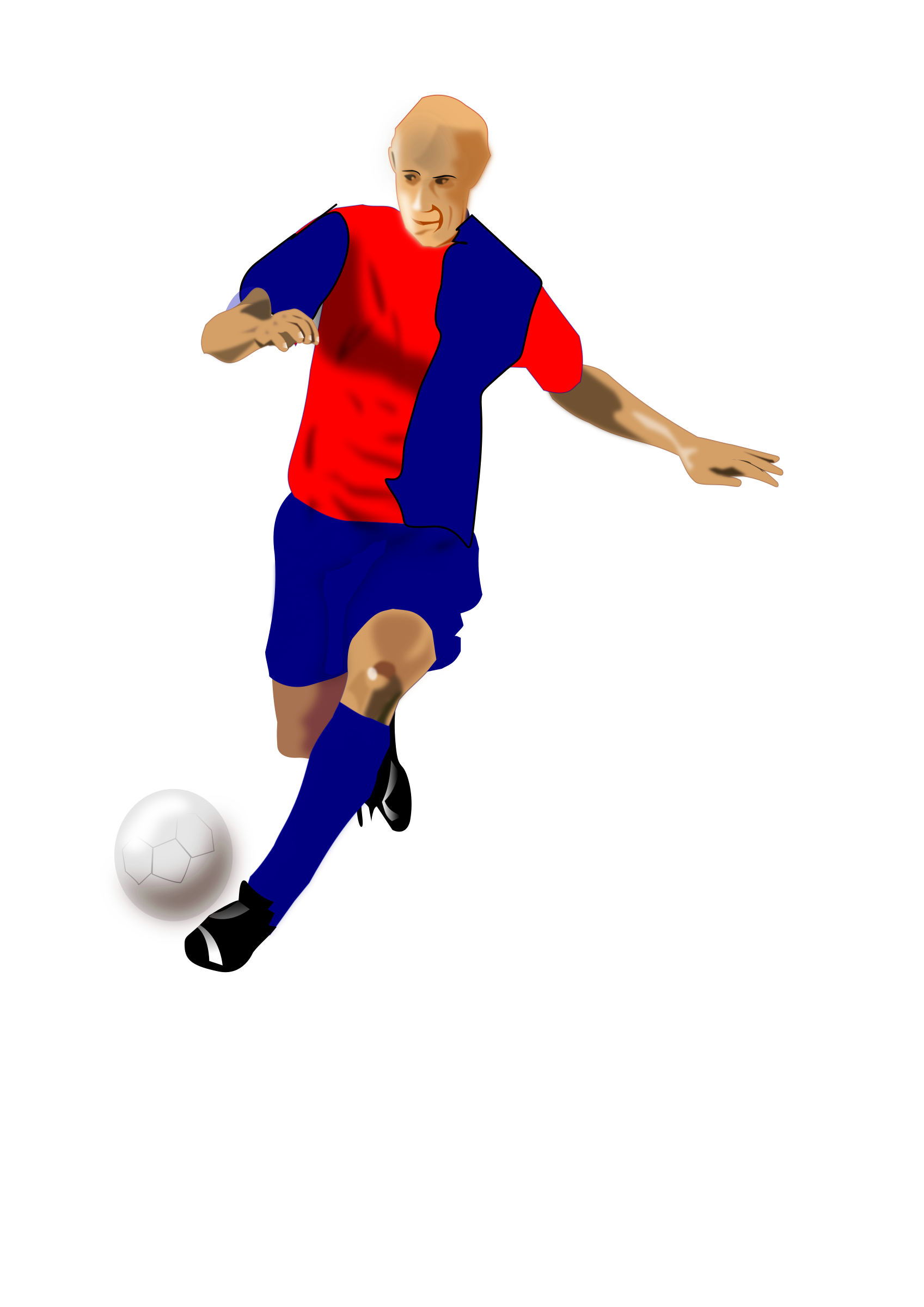 Knee clipart soccer injury. Rossoblu player big image