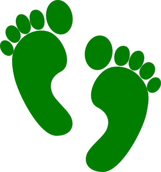 Green feet left forward. Foot clipart small foot