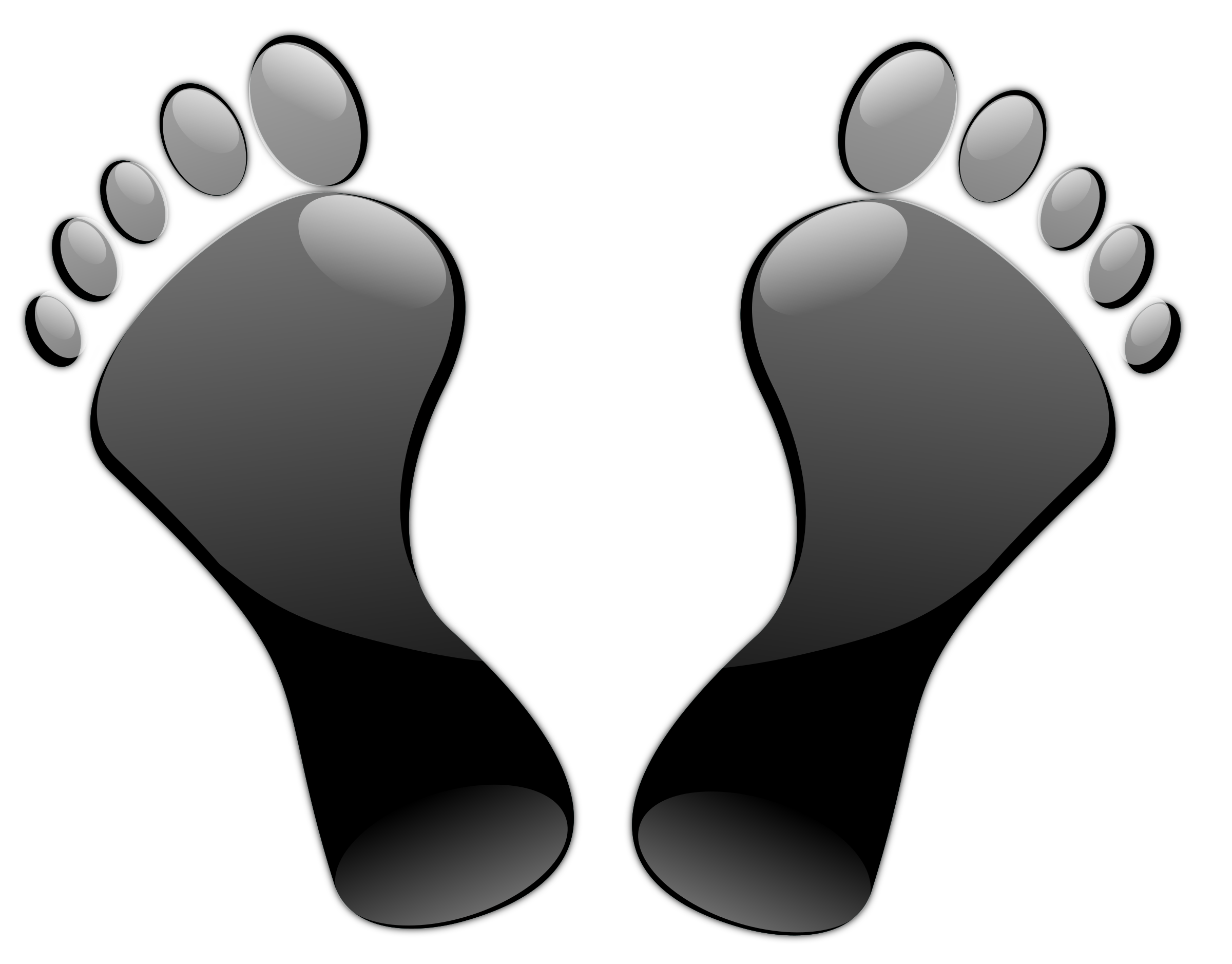 Footsteps clipart cute. Black feet icons png