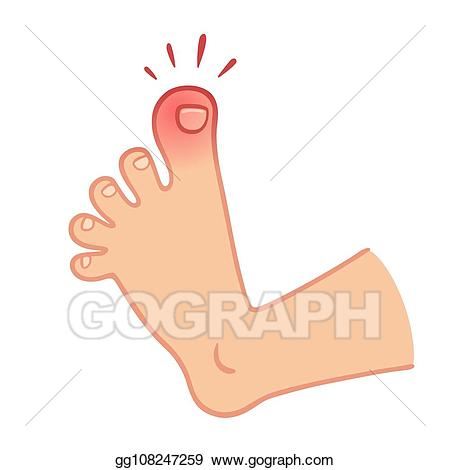 Feet clipart toe. Eps illustration foot with